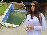 Katie Price shows fans around her slimy pool and rubbish-filled garden