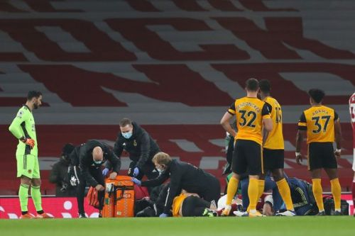 Jimenez taken straight to hospital after sickening clash of heads with Luiz