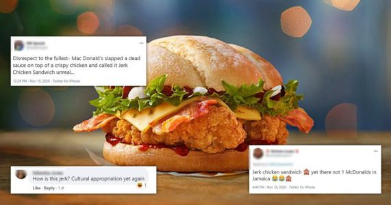 McDonald's accused of 'cultural appropriation' over new Jerk Chicken Sandwich