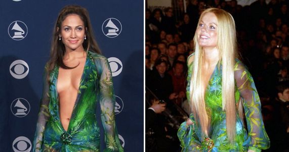 Spice Girls' Geri Horner actually wore Jennifer Lopez's iconic Versace dress first and our minds are blown