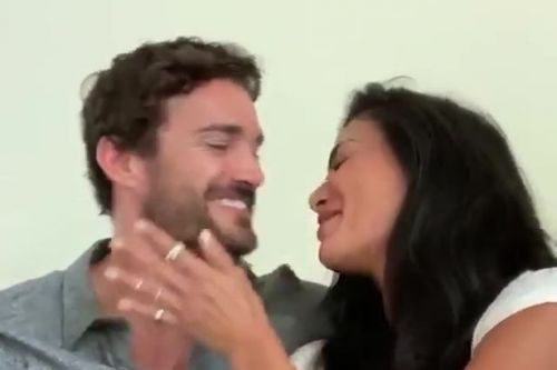 Nicole Scherzinger and Thom Evans sing loved up duet together for his birthday