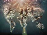 Ethereal images of underwater models