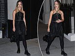 Lady Amelia Windsor stuns in an effortlessly chic dress as she attends a British Vogue event