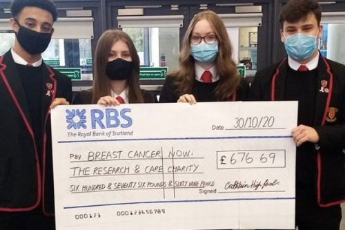 Kind school pupils raise money for Cancer Research UK after pink themed week
