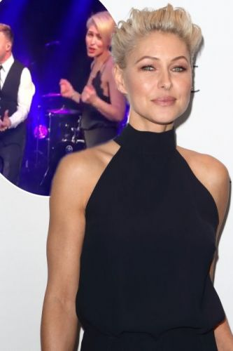 Emma Willis joins Gary Barlow on stage as Rochelle Humes celebrates 30th birthday with celebrity friends