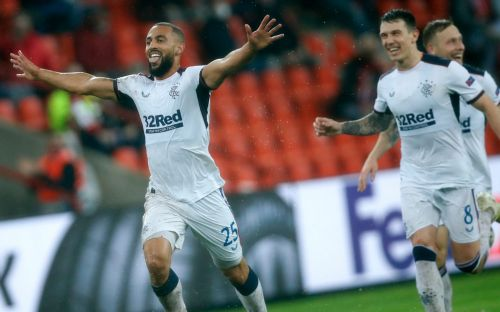 Kemar Roofe scores from inside own half as Rangers begin Europa League campaign with Standard Liege win