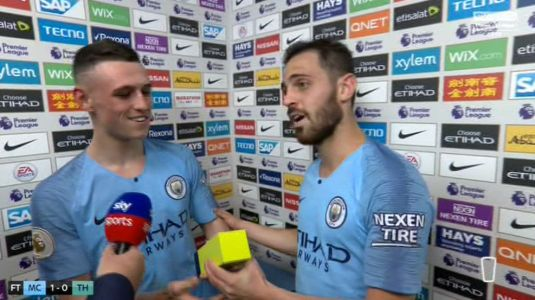Bernardo Silva snubs Man of the Match award and gives it to Phil Foden instead