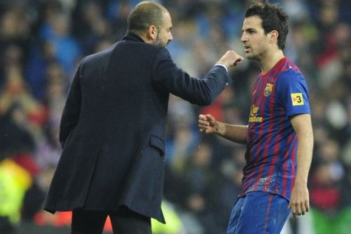 Cesc Fabregas snubs Pep Guardiola when naming his two best coaches
