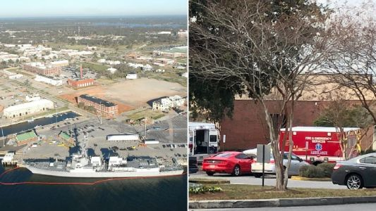 'At least two dead and 11 injured' after shooter opens fire at Florida naval base