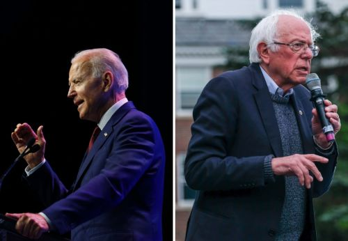 Joe Biden accused the Bernie Sanders campaign of putting out a 'doctored video' after it cut a speech recording short