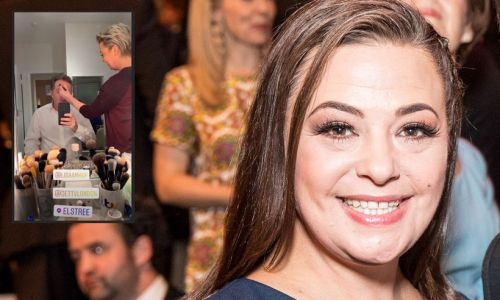 Lisa Armstrong gives Piers Morgan a painful looking makeover - see video
