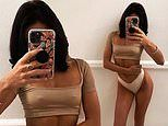 Love Island's Alexandra Cane leaves little to the imagination as she poses braless in a crop top