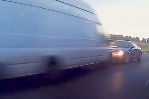 Dashcam shows Scots driver plough head-on into van after overtaking HGV