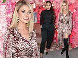 Love Island's Amy Hart slips into pink leopard print silk dress for In The Style launch