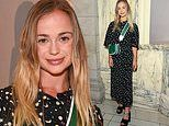 Lady Amelia Windsor looks a vision in a space-esque maxi dress during London Fashion Week
