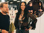 Rihanna 'fires' James Corden as her assistant after letting him help her at Savage X Fenty show