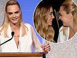 Cara Delevingne officially goes public with Ashley Benson relationship at TrevorLIVE Gala