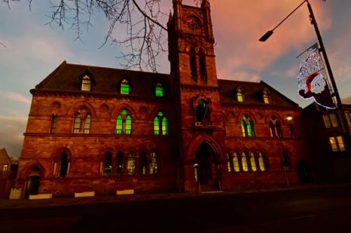 Dumbarton council offices turn green for children's charity