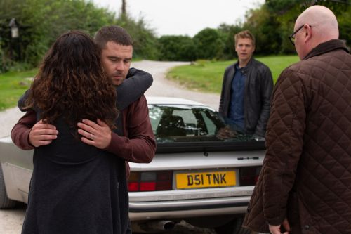 Emmerdale spoilers: Emotional exit for Robert and Aaron as they flee the village following Lee's death