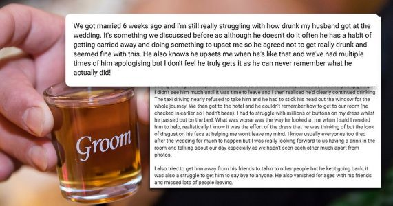 Bride can't forgive 'selfish' groom who got so drunk on wedding day he passed out in bridal suite