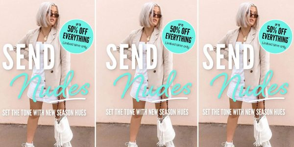 An ad from fast fashion retailer Boohoo got banned for promoting skin-toned clothes with the strapline 'send nudes'