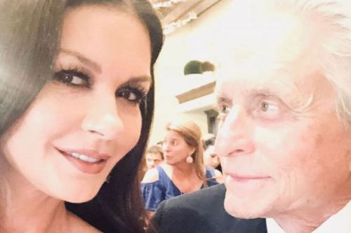 Michael Douglas 'lucked out' with wife Catherine Zeta Jones as he shares throwback snap