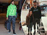 NBA star Ben Simmons' defiantly wears camo pants as he jets into Sydney