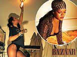 Rihanna poses for series of low-key snaps