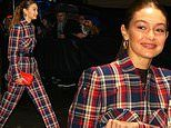 Gigi Hadid steps out to support birthday girl Taylor Swift for the iHeartRadio Jingle Ball