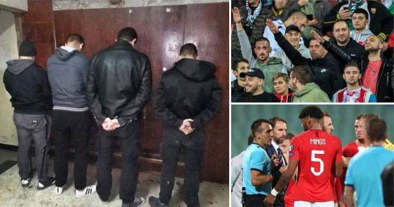 Four arrested over Nazi salutes and racism at England match in Bulgaria