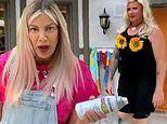 Celebrity Show-Off: Tori Spelling dresses husband Dean McDermott in drag for at-home Pride Party