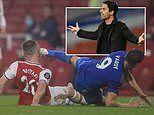 Arsenal boss Mikel Arteta fumes after Jamie Vardy avoids red card for kicking Shkodran Mustafi
