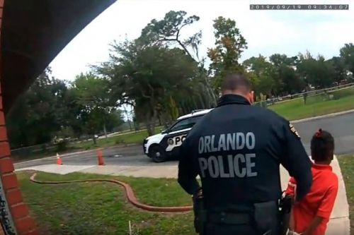 Shocking bodycam footage shows police officer arrest girl, 6, as she tearfully pleads to be let go