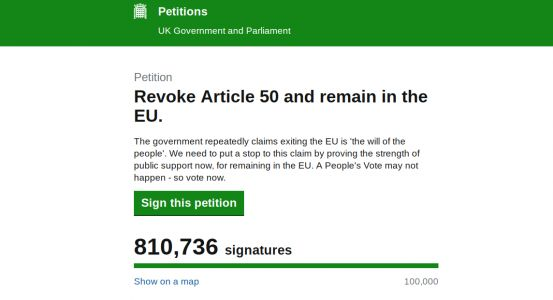 Revoke Article 50 petition crashes government website