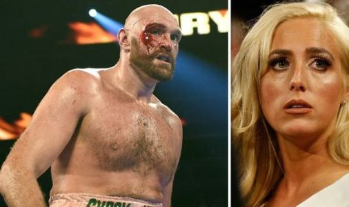 Tyson Fury's wife Paris's shocked face when she sees brutal cut up close after Otto Wallin