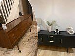 Savvy homeowner upcycles £40 sideboard she bought on Facebook Marketplace into stylish showstopper