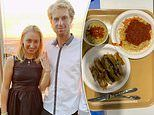 Aussie tennis starLuke Saville shows off the incredible dining hall buffet at the Tokyo Olympics