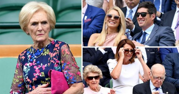 Tess Daly has a whale of a time at Wimbledon hanging out with Mary Berry
