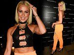 Gabby Allen wows in racy cut-out top as she parties in Manchester