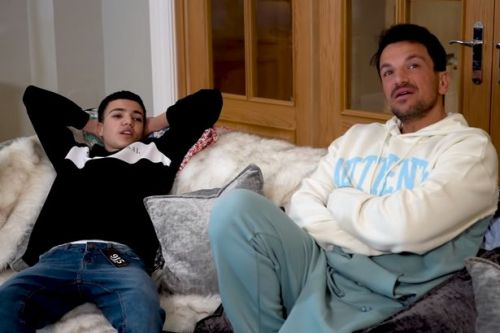 Peter Andre says Junior is already earning his own money and saving for a car