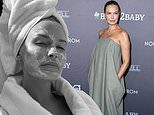 Pregnant Lara Bingle indulges in a $169 face mask in lockdown in her mansion