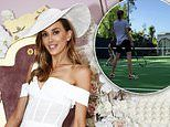 Rebecca Judd shows off her private tennis court at $7.3 million Melbourne mansion