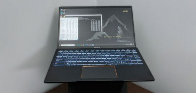Sneak Preview: MSI Summit Tiger Lake-powered business laptop