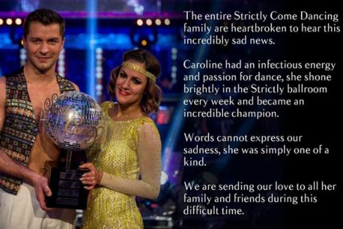 Strictly Come Dancing praise Caroline Flack's 'infectious energy' in emotional tribute