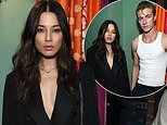 Model Jessica Gomes attends Christian Louboutin shoe launch alongside Lucky Blue Smith