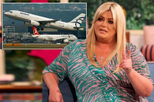 Gemma Collins lashes out at fellow traveller who attempts to recline her seat on economy flight