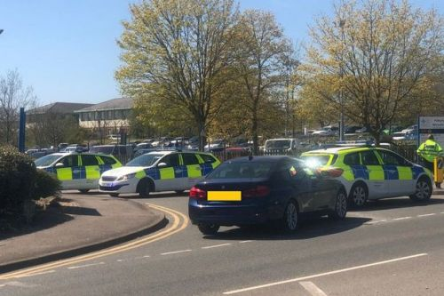 Hospital 'on lockdown' as police cars block entrance in 'ongoing incident'