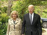 Joe and Jill arrive arm-in-arm for Royal reception with Queen, Kate, William, Charles and Camilla