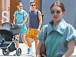 Gigi Hadid catches the eye in head-to-toe turquoise as she grabs breakfast with BFF Antoni Porowski