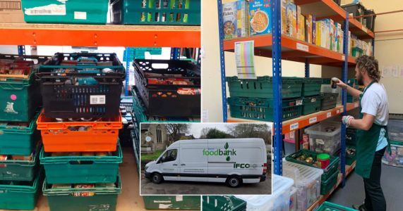 Food bank van stolen which was full of supplies for emergency parcels